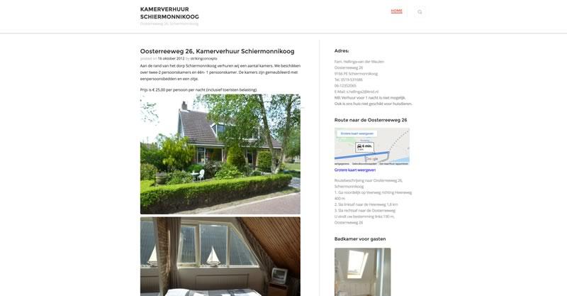 Kamerverhuur Schiermonnikoog