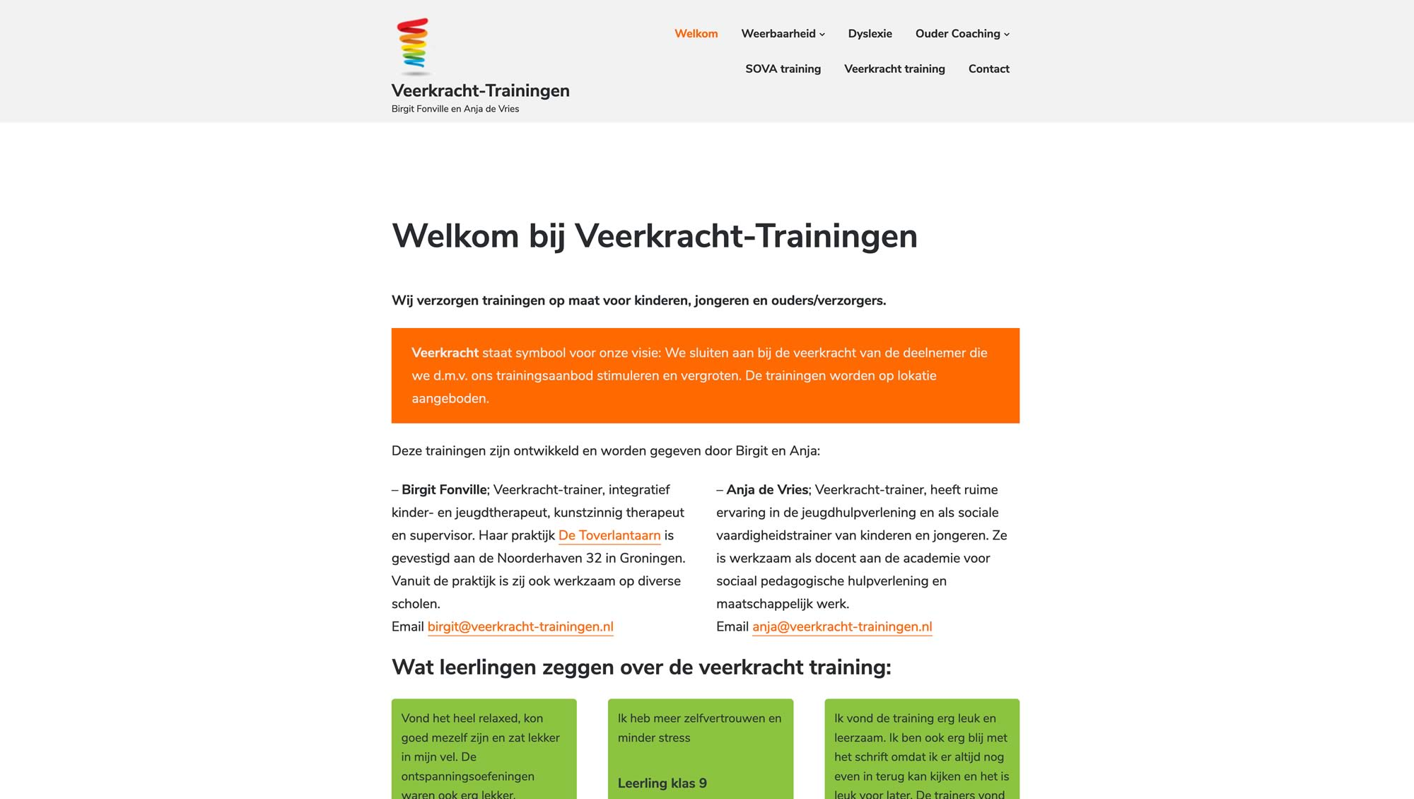Veerkracht Trainingen